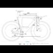 CUBE AERIUM C:68 FRAMESET LOW Férfi Triatlon Kerékpár Vázszett 2020