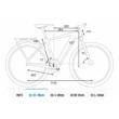 CUBE TOURING HYBRID ONE 500 EASY ENTRY blue´n´green Unisex Elektromos Trekking Kerékpár 2021