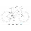 Cube Reaction Hybrid Performance 625 TRAPÉZ blue´n´red Női Elektromos MTB Kerékpár 2021