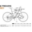 KTM MACINA FUN P 510 denim (silver+white) Unisex Elektromos Trekking Kerékpár 2021