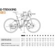 KTM MACINA TOUR P 510 TRAPÉZ denim (orange+white) Női Elektromos Trekking Kerékpár 2021