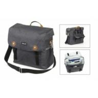 Táska, csomagtartó -,válltáska, víztaszító, antracit, esővédelem, 32x36x14cm, 16l