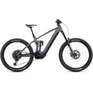 CUBE STEREO HYBRID 160 HPC TM 750 27.5 FLASHGREY´N´OLIVE Férfi Elektromos Összteleszkópos Enduro MTB Kerékpár 2022