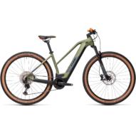 CUBE REACTION HYBRID RACE 625 TRAPÉZ green´n´orange Női Elektromos MTB Kerékpár 2021