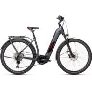 Cube Kathmandu Hybrid SL 625 EASY ENTRY iridium´n´red Unisex Elektromos Trekking Kerékpár 2021