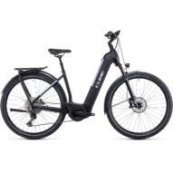 CUBE KATHMANDU HYBRID EXC 750 EASY ENTRY BLACK´N´SILVER Uniszex Elektromos Trekking Kerékpár 2022