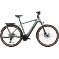 CUBE KATHMANDU HYBRID EXC 750 SILVERGREEN´N´BLACK Férfi Elektromos Trekking Kerékpár 2022