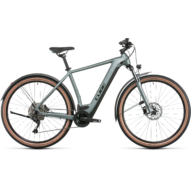CUBE NURIDE HYBRID PRO 625 ALLROAD SILVERGREEN´N´BLACK Férfi Elektromos Cross Trekking Kerékpár 2022