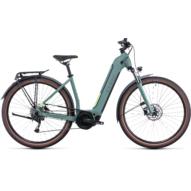 CUBE TOURING HYBRID ONE 625 EASY ENTRY GREEN´N´SHARPGREEN Uniszex Elektromos Trekking Kerékpár 2022