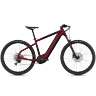 GHOST E-Teru Advanced 27,5 Dark Cherry / Midnight Black / Gray Férfi Elektromos MTB Kerékpár 2021