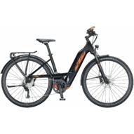 KTM MACINA SPORT 630 EASY ENTRY metallic black (orange) Unisex Elektromos Trekking Kerékpár 2021