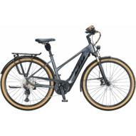 KTM MACINA STYLE 620 TRAPÉZ steel grey (black+orange) Női Elektromos Trekking Kerékpár 2021