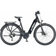 KTM MACINA TOUR P 510 EASY ENTRY metallic black (white+orange) Unisex Elektromos Trekking Kerékpár 2021