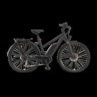 "Winora Tria 9 500 28"" Black Matt TRAPÉZ Női Elektromos Trekking Kerékpár 2021"