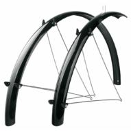 """SKS-Germany Fender Set 28"""" kerékpár sárvédő szett [fekete, 46 mm]"""