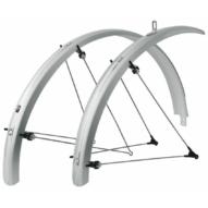 """SKS-Germany Bluemels Trekking 28"""" kerékpár sárvédő szett [ezüst, 45 mm]"""
