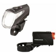 Trelock LS 460 I-GO® POWER / LS 720 akkumulátoros első+hátsó lámpa
