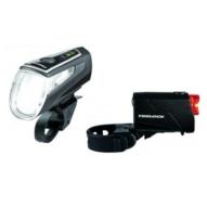 Trelock LS560 I-GO control + LS720 Usb lámpaszett fekete