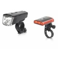 Kerékpár Lámpaszett Titania USB 1W/0,2W töltovel CL-S16