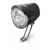 Kerékpár Lámpa agydinamós első, LED, 20 LUX, kapcsőlóval és állófénnyel