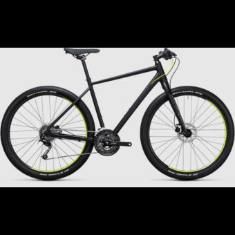 Cube Hyde black´n´flashyellow 2017 Városi/ Fitnesz kerékpár