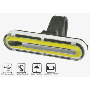 Velotech 50 chipled USB akkumulátoros első vagy hátsó lámpa