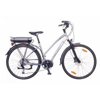 """Neuzer Menton női ezüst/cián 18"""" Eleketromos kerékpár"""