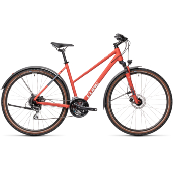 CUBE NATURE ALLROAD TRAPÉZ red´n´grey Női Cross Trekking Kerékpár 2021