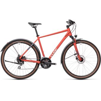 CUBE NATURE ALLROAD red´n´grey Férfi Cross Trekking Kerékpár 2021