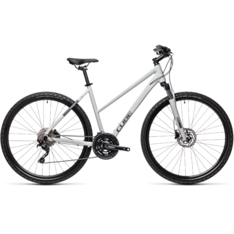 CUBE NATURE PRO TRAPÉZ grey`n´iridium Női Cross Trekking Kerékpár 2021