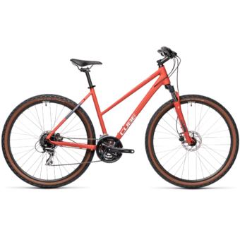 CUBE NATURE TRAPÉZ red´n´grey Női Cross Trekking Kerékpár 2021