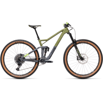 "CUBE STEREO 150 C:62 RACE OLIVE´N´GREY 29"" 2021"