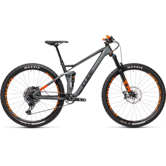 """CUBE STEREO 120 HPC TM FLASHGREY´N´ORANGE 29"""" Férfi Összteleszkópos MTB Kerékpár 2021"""