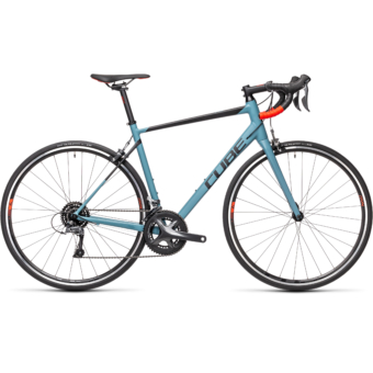 "CUBE ATTAIN GREYBLUE´N´RED 28"" 2021"