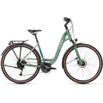 "CUBE TOURING EXC GREENBLUE´N´BLUEGREEN 28"" EASY ENTRY 2021"