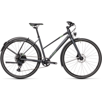 "CUBE TRAVEL SPORT IRIDIUM´N´GREEN 28"" TRAPÉZ 2021"