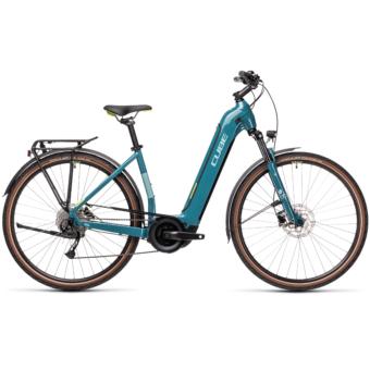 CUBE TOURING HYBRID ONE 625 EASY ENTRY blue´n´green Unisex Elektromos Trekking Kerékpár 2021