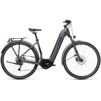 CUBE TOURING HYBRID ONE 500 EASY ENTRY grey´n´black Unisex Elektromos Trekking Kerékpár 2021