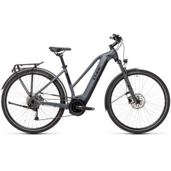 CUBE TOURING HYBRID ONE 625 TRAPÉZ grey´n´black Női Elektromos Trekking Kerékpár 2021