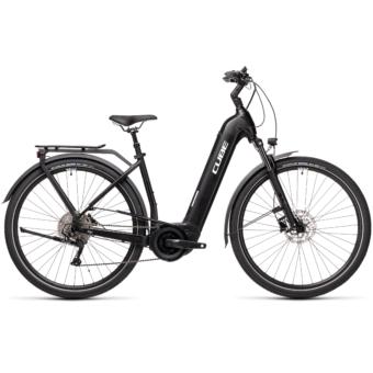 CUBE TOURING HYBRID PRO 500 EASY ENTRY black´n´white Unisex Elektromos Trekking Kerékpár 2021