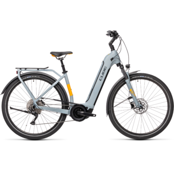 CUBE TOURING HYBRID PRO 500 EASY ENTRY grey´n´orange Unisex Elektromos Trekking Kerékpár 2021