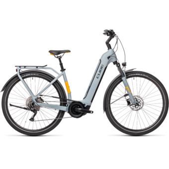 CUBE TOURING HYBRID PRO 625 EASY ENTRY grey´n´orange Unisex Elektromos Trekking Kerékpár 2021