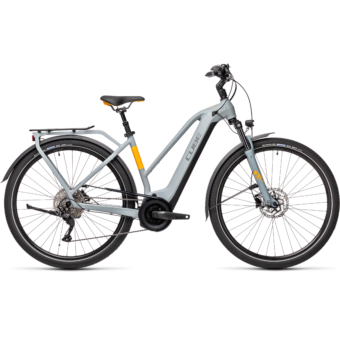 CUBE TOURING HYBRID PRO 625 TRAPÉZ grey´n´orange Női Elektromos Trekking Kerékpár 2021