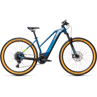 Cube Reaction Hybrid SL 625 29 TRAPÉZ blue´n´green Női Elektromos MTB Kerékpár 2021