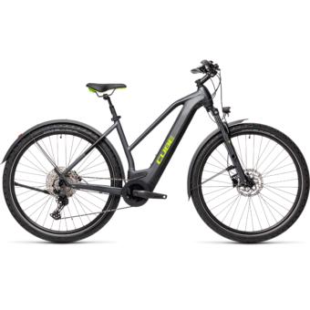CUBE CROSS HYBRID PRO 500 ALLROAD TRAPÉZ iridium´n´green Női Elektromos Cross Trekking Kerékpár 2021