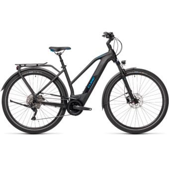 CUBE KATHMANDU HYBRID PRO 500 TRAPÉZ black´n´blue Női Elektromos Trekking Kerékpár 2021