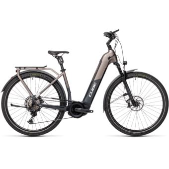 CUBE KATHMANDU HYBRID SLT 625 EASY ENTRY teak´n´iridium Unisex Elektromos Trekking Kerékpár 2021