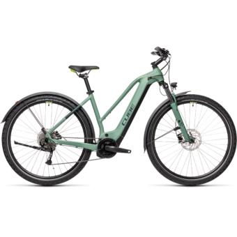 CUBE NATURE HYBRID ONE 625 ALLROAD TRAPÉZ green´n´sharpgreen Női Elektromos Cross Trekking Kerékpár 2021