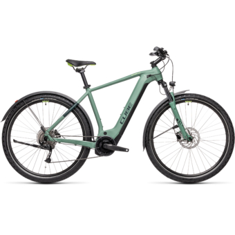 CUBE NATURE HYBRID ONE 625 ALLROAD green´n´sharpgreen Férfi Elektromos Cross Trekking Kerékpár 2021