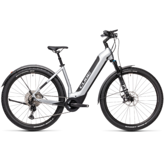 CUBE NURIDE HYBRID SL 625 ALLROAD polarsilver´n´black Unisex Elektromos MTB Kerékpár 2021